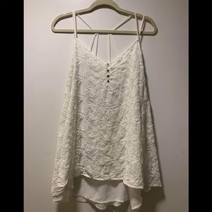 What lace/sheer tank top